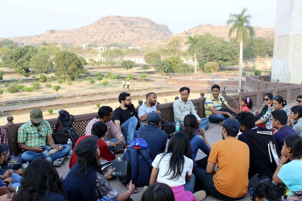 Group discussion at Bibi Ka Makbara, Aurangabad