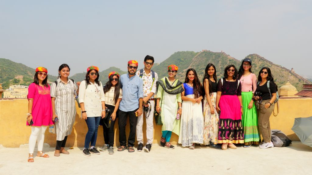 Group photograph at Amber Fort, Jaipur